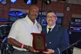 FCVFRA President Smothers accepting an award from MSFA President Mike Davis