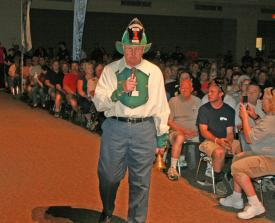 Volunteer Chief Chip Jewell during the Opening Ceremony.