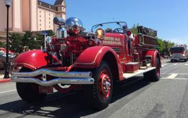 Antique Emergency Apparatus Making Best Appearance (25 Years of Older, Not in Service) was awarded to United Steam Fire Company – 1939 Ahrens Fox