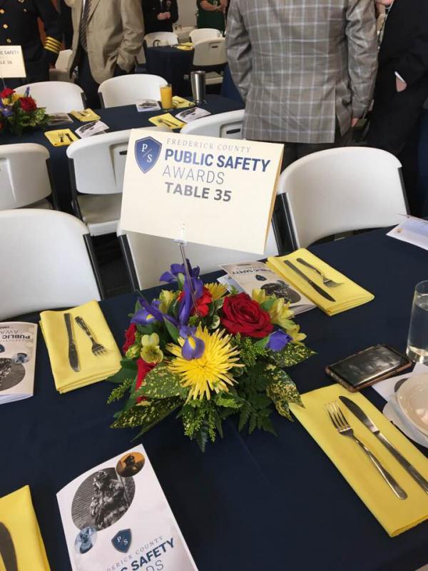 Public Safety Table arrangement