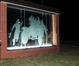 The etching will greet fire and rescue personnel as they arrive in Emmitsburg.