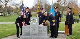 The names of Frederick County's fallen heroes are inscribed on the memorial. Photo by Susie Nicol